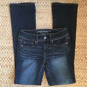 AEO American Eagle Kick Boot Jeans 4 Long